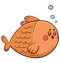 Cute fish swimming vector