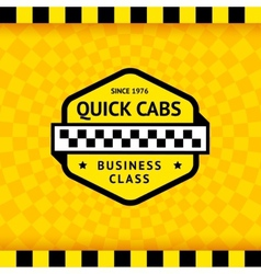 Taxi symbol with checkered background - 11 vector