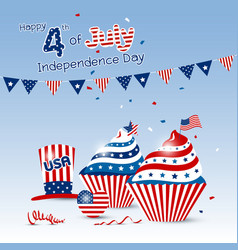 4 july independence day of usa design vector