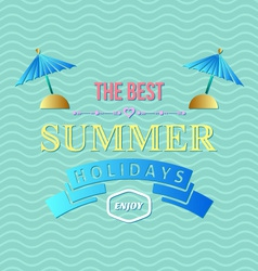 Summer holidays typography vector
