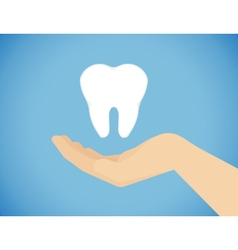 Tooth care vector image