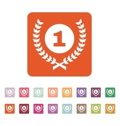 The award icon wreath symbol flat vector