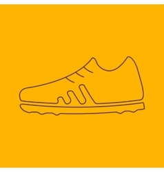 Football boots line icon vector