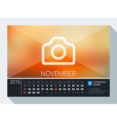 November 2016 stationery design print template vector
