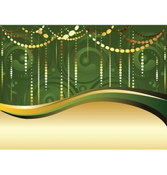 Swirls and gold ribbon vector