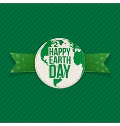 Happy earth day text on realistic banner vector
