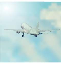 Airplane takeoff abstract vector