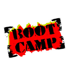 Boot camp sticker vector