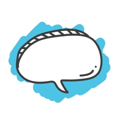 Cartoon doodle speech bubble vector image