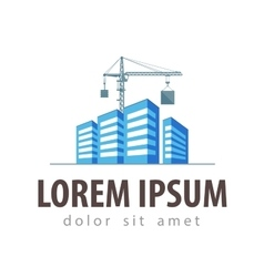 city town logo design template vector image vector image