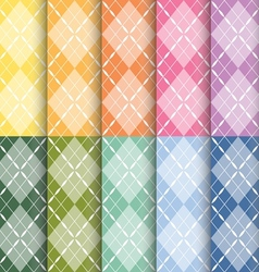 clorful plaid pattern vector image vector image