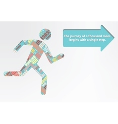 Colorful figure of a man running vector image vector image