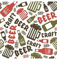 Craft beer brewery seamless pattern vector
