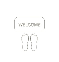 Door mat welcome vector