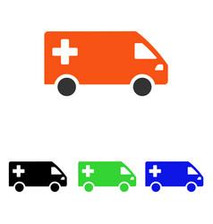 emergency van flat icon vector image vector image