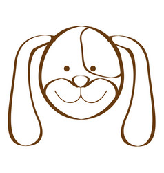 Figure dog animal head expression vector