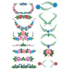 Folklore pattern elements gorodets painting russia vector