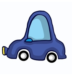 Funny car style for kids vector