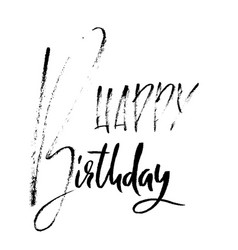 Happy birthday modern brush lettering for vector