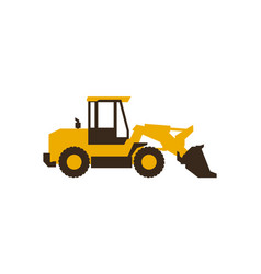 Icon front loader construction machinery vector