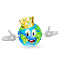 King of the world mascot vector