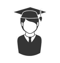 man graduate graduation education achievement icon vector image