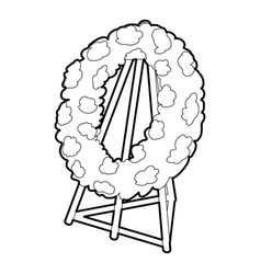 Memorial wreath icon outline style vector