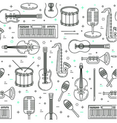 Music pattern seamless design vector