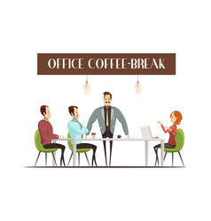 office coffee break vector image vector image