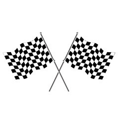 Race flags vector