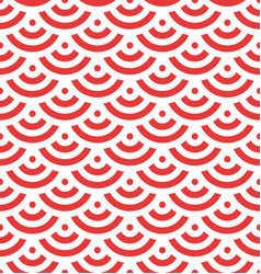 red fish scale background of concentric circles vector image