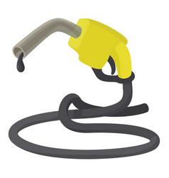 Refueling nozzle icon cartoon style vector
