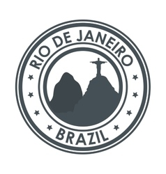 Rio de janeiro brazil monument christ design vector