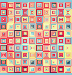 seamless geometric pattern of squares vector image