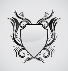 Shield ornamental vector