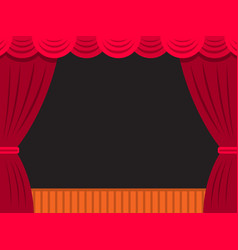 Theatre stage banner vector
