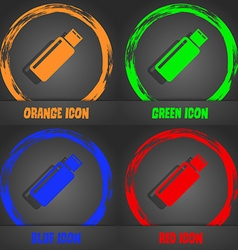 Usb sign icon flash drive stick symbol fashionable vector