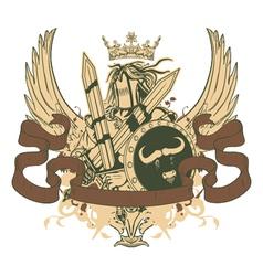 Warrior emblem vector