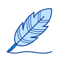 writing feather line icon vector image vector image