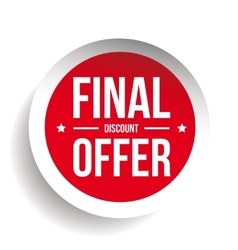 Final discount offer round label sticker vector