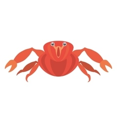 Red crab sea life marine icon vector