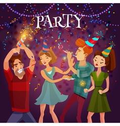 Birthday party celebration festive background vector