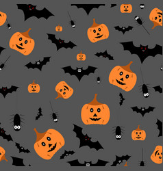 Seamless halloween pattern on vector