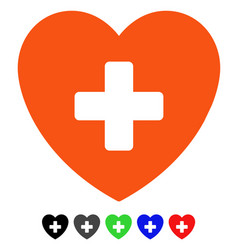 Cardiology flat icon vector