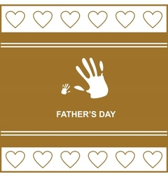 Gift card on fathers day with kids and fathers vector