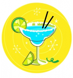 margarita retro cocktail vector image