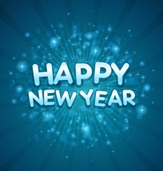 3d happy new year message vector image vector image