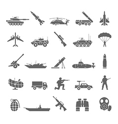 Black icons - army vector