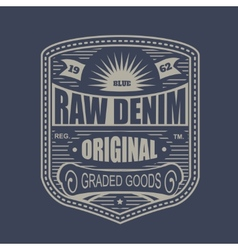 Vintage denim typography t-shirt graphics vector