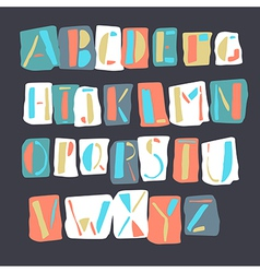 Cartoon alphabet retro vector